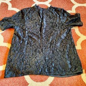 H&M Black Lace Top M